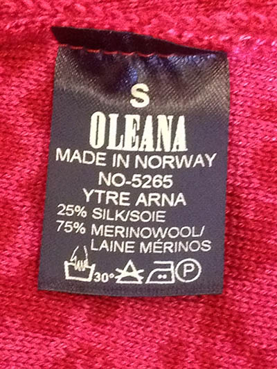 Oleana made in norway