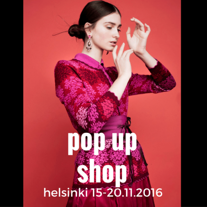 Oleana pop up shop Helsinki 15-20.11.2016