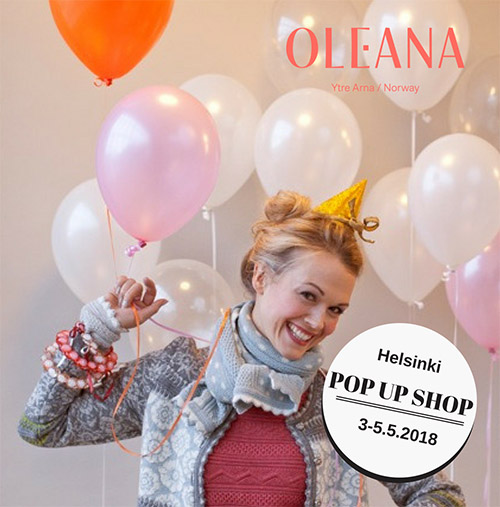 Oleana Helsinki pop up shop