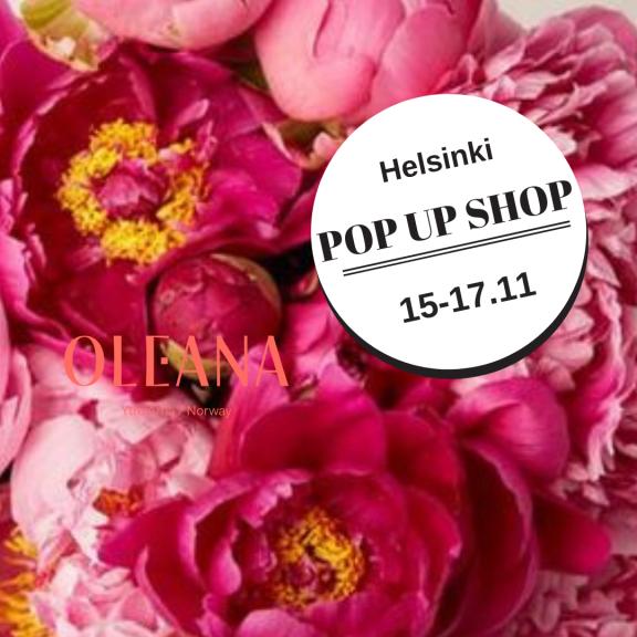 Oleana Helsinki pop up shop 15-17.11.2018